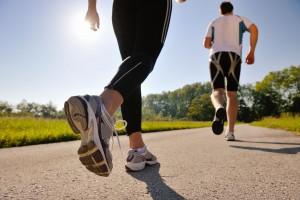Running course à pieds en couple